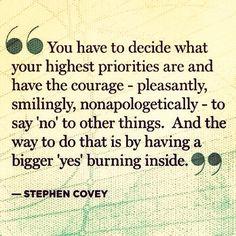 courage priorities
