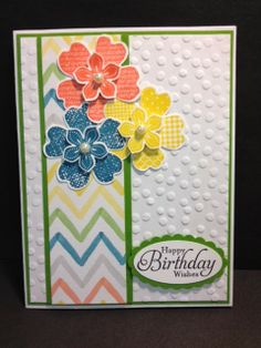 A Flower Shop Birthday Stampin' Up! Rubber Stamping Handmade Cards Birthday Cards