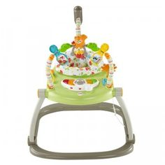 The Woodland Friends SpaceSaver Jumperoo from Fisher-Price is a space-saving jumper for babies that features songs, lights, and toys.