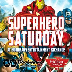 Be sure to join Phoenix Comicon's 2014 Street Team for Superhero Saturday! Happening on April 26th at Bookmans Entertainment Exchange, located at 8034 N. 19th Ave, the Street Team will be there from 7 p.m. – 9 p.m. Don't miss your chance to find out more about all the fun and excitement happening at Phoenix Comicon this year!
