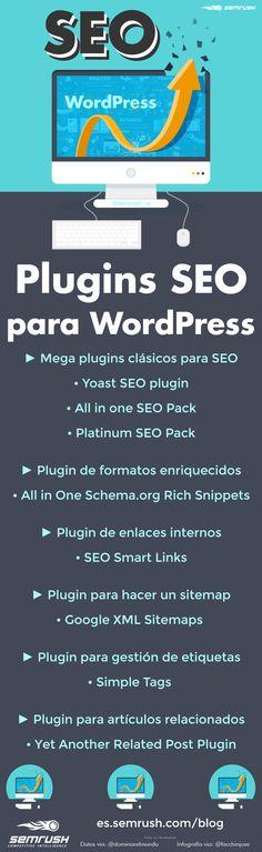 Plugins SEO para WordPress #infografia #infographic #seo   TICs y Formación