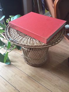 What a unique way to display our favorite planties! Wicker plant stand from Fig House Vintage!