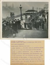 King George VI funeral mourning vintage royal photo