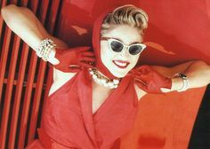 Madonna in the Material Girl video, 1985