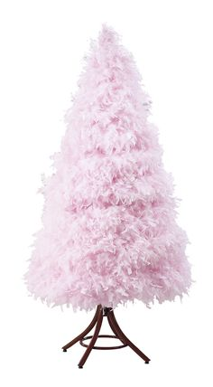 I want a pink feather Xmas tree come holiday season!