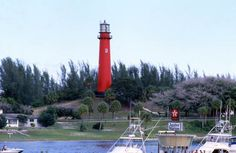 Scenic view of the Jupiter Inlet Lighthouse in Palm Beach County. | Florida Memory
