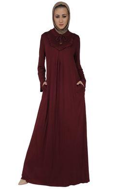 East Essence Abaya Dress  -  at PlusSizeDesi.com #psdesi #plussize #plussizedesi #desiclothing #psd Modest Wear, Modest Dresses, Modest Outfits, Black Abaya, Kaftan Style, Pakistani Outfits, No Frills, Baby Dress, Casual Wear
