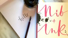 Learning Modern Calligraphy with Nib Ink Calligraphy Nibs, Modern Calligraphy, Guide Book, Ink, Lettering, Writing, Lifestyle, Learning, Studying