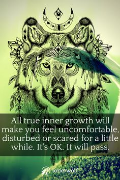 True inner growth, genuine self-growth, can be INTENSELY uncomfortable at times.