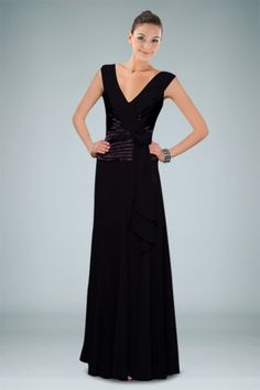 Classy Column Evening Dress Holding Pleated Bodice and Feminine Ruffles