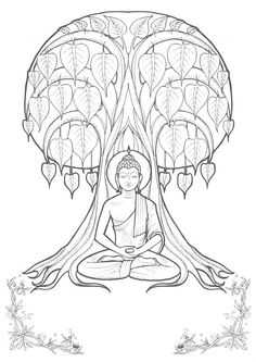 coloring pages buddah - photo#15