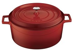 Lava Signature Enameled Cast-Iron Round Dutch Oven - 10-1/2 Quart, Cayenne Red >> New and awesome product awaits you, Read it now  : Dutch Ovens