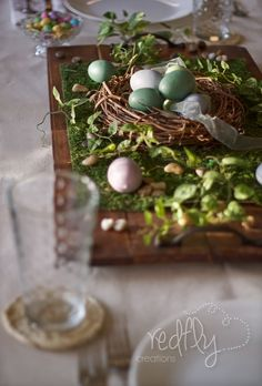 Redfly Creations: A Recipe for a Simple Easter Table-Scape