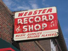 "2008 Darren Snow photo. Webster Records was an institution in Webster Groves from 1953 to 2012. It's first location was in a building where the parking lot for the Desoto Building is now at Lockwood and Big Bend. It moved ""up"" to Old Webster in 1958 in the old Doubleday Bookstore location. In 1990 it moved to the Velvet Freeze building at 117 West Lockwood. It closed in January 2012, nearly 60 years old."