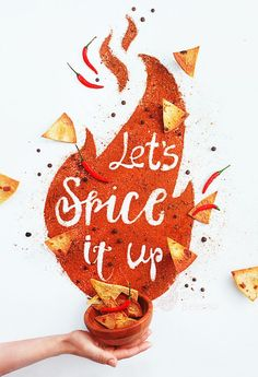 Spice it up! by Dina Belenko on 500px Conceptual food photography with spice and lettering