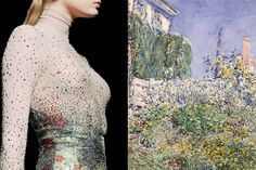 Match #355 Details at Nina Ricci Fall 2009   Thaxter's Garden by Childe Hassam…