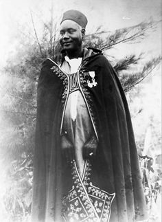 Africa | Ely Manel Fall, Baol District Chief.  Diourbel, Senegal.  ca. 1914 - 1960 || Vintage photographic print; photographer unknown
