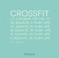Crossfit workout ~ 3 rounds for time Wods Crossfit, Crossfit At Home, Crossfit Chicks, Fitness Nutrition, Fitness Tips, Fun Workouts, At Home Workouts, Workout Exercises, Workout Ideas