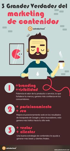 3 grandes verdades del Marketing de Contenidos #infografia #infographic #marketing | TICs y Formación