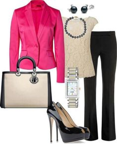 Spring Office Outfit-pink blazer-yes please!