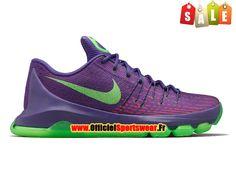 Nike KD 8/VIII Chaussure de Nike Basket-ball Pas Cher Pour Homme Pourpre/Vert 749375-535