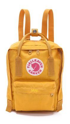 Fjallraven Kanken Mini Backpack keltaisena/oranssina/lohenpunaisena