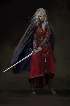ArtStation - woman warrior, Anastasiya Hurtina