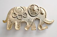 Vintage Metal Elephant Circus Figural Hardware by ClassicMemories, $15.00