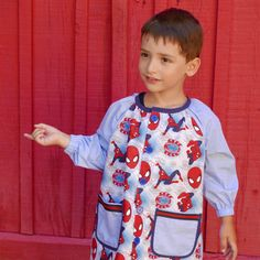 School smock PDF Pattern sizes 6m  8 years mod. by ColoursforBaby