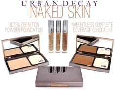 Urban Decay NAKED Skin Powder Foundation + Complete Coverage Concealer from the Spring Collection. I was super impressed with the concealer, great coverage, long lasting, and pretty creaseproof!