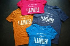Colorful t-shirts designed by Tim Bisschop's for WieMu