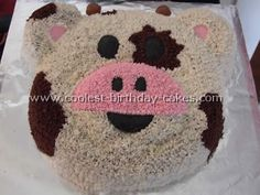 Cow Birthday Cake. Hmmmm who could I make this for?:)