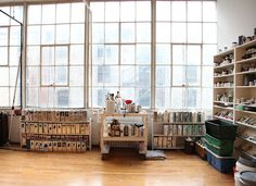 James Nares's studio (more great pictures at the linked blog)