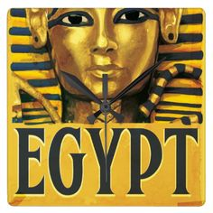 tut images fonts | Egypt -Tutankhamun Wallclock