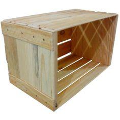Caixote De Madeira Quadrado Estilo Caixa De Feira