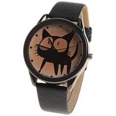 Kuromi Quartz Watch with Dots Indicate Dial Leather Watchband for Women (Black), BLACK in Women's Watches Watches For Men, Women's Watches, Black Watches, Wrist Watches, Pagan Jewelry, Fashion Sale, Watches Online, Vintage Leather, Quartz Watch