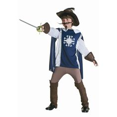 Become one of the three musketeers when you wear this kids musketeer costume. This kids musketeer costume is a great historical costume idea for boys. Cosplay Costumes For Men, Halloween Costumes For Girls, Boy Costumes, Baby Halloween, Group Halloween, Mascot Costumes, Costume Ideas, Musketeer Costume, Renaissance Fair Costume