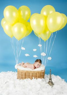 Baby Liam flies over the eifel tower #baby #theme #photography