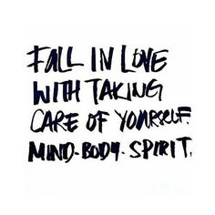 redfairyproject.com  DAILY INSPIRATION - Fall in love with taking care of yourself... We can't always be on the go, doing, doing, doing. We must stop to refuel. Reserve moments in your week for taking care of yourself and recharging. (To get your full dose of wisdom from this inspiring quote, click the image!). xoxo