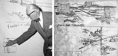 Le Corbusier: Proposition pour l'urbanisation de la banlieue nord de Rome, 1936 - ©Fondation Le Corbusier, ©lesmemoires.free.fr