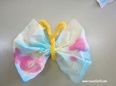 Ideas, fichas y materiales de educación infantil. - Mariposa primavera