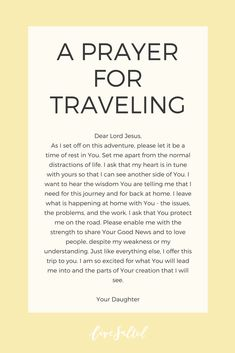 Now Walk It Out – Traveling - Travel Quotes Prayer Scriptures, Bible Prayers, Faith Prayer, God Prayer, Prayer Quotes, Mission Trip Quotes, Journey Quotes, Faith Quotes, Prayer For Travel