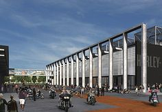2006 Harley-Davidson unveils plans for an all-new museum in Milwaukee, scheduled for opening in 2008. Harley Davidson History, Harley Davidson Museum, Harley Davidson Motorcycles, New Museum, Shopping Malls, Milwaukee, Explore, Building, Places