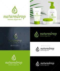 Nature Drop Logo - Envato Market #BestDesignResources