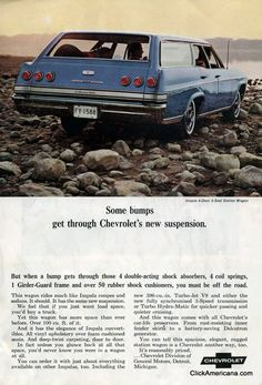 """""""Some Bumps Get Through Chevrolet's New Suspension,"""" Chevrolet station wagons (1965)"""