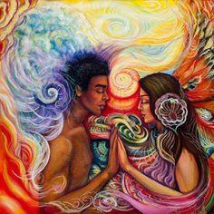 Sagrada energía divina femenina Sagrada energía divino masculino les honro y les abrazo en mí... así me permito vivir en mí, el matrimonio sagrado. Este no está afuera en la relación perfecta, que además no existe... sino está vivo en mi interior en la comunión perfecta de mi femenina sagrada y mi sagrado masculino