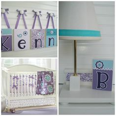 Personalized  Nursery Lamp . M2M Pottery Barn by RessieLillian.Etsy.com  Made to coordinate with Pottery Barn Brooklyn