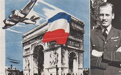 The audacious story of how a RAF pilot flew down the Champs-Elysees to drop a French Tricolour over Nazi-occupied Paris has emerged after his medals were put up for sale.