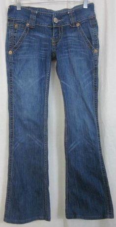 True Religion Jeans Size 27 Sammy 28x30 Low Rise  Flare Leg Free Shipping #TrueReligion #Flare