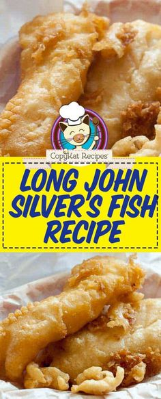 Long John Silver's Copycat Fish Recipe Learn the secret to making fried fish that's crunchy on the outside and perfectly cooked on the inside. This copycat Long John Silvers batter recipe is great for cod or your favorite fish. Cod Fish Recipes, Fried Fish Recipes, Seafood Recipes, Cooking Recipes, Canned Fish Recipes, Beer Batter Recipe, Batter Recipe For Frying Fish, Fish Batter Recipe Without Beer, Beer Batter For Fish